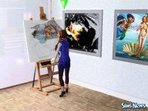 Профессия художника в The Sims 4