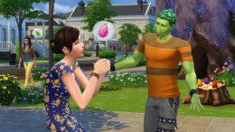 зеленый растоман в игре симс 4